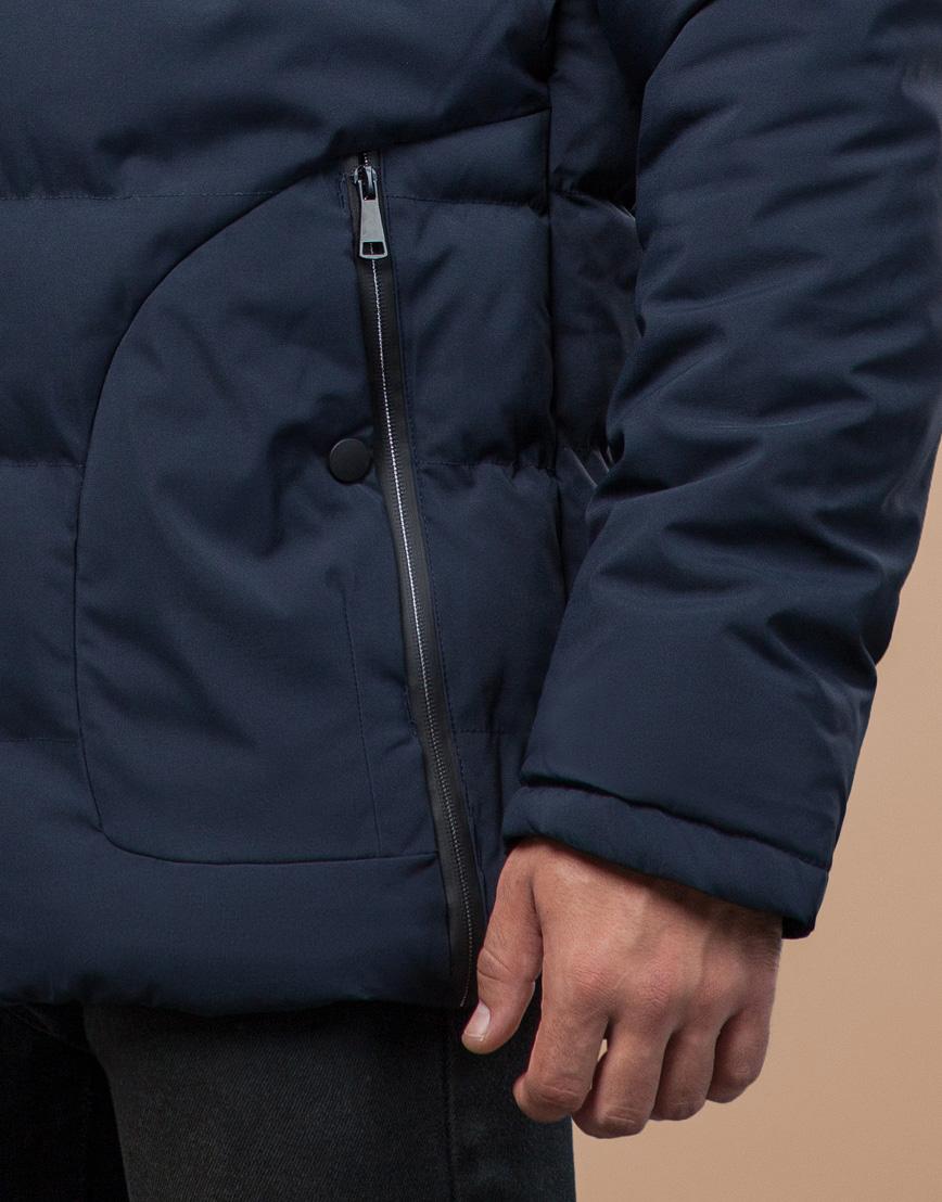 Молодежная синяя куртка с капюшоном модель 25780 фото 6