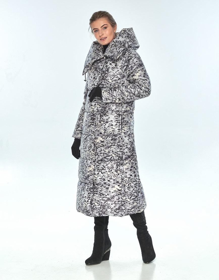 Практичная куртка женская Ajento с рисунком зимняя 21550 фото 2