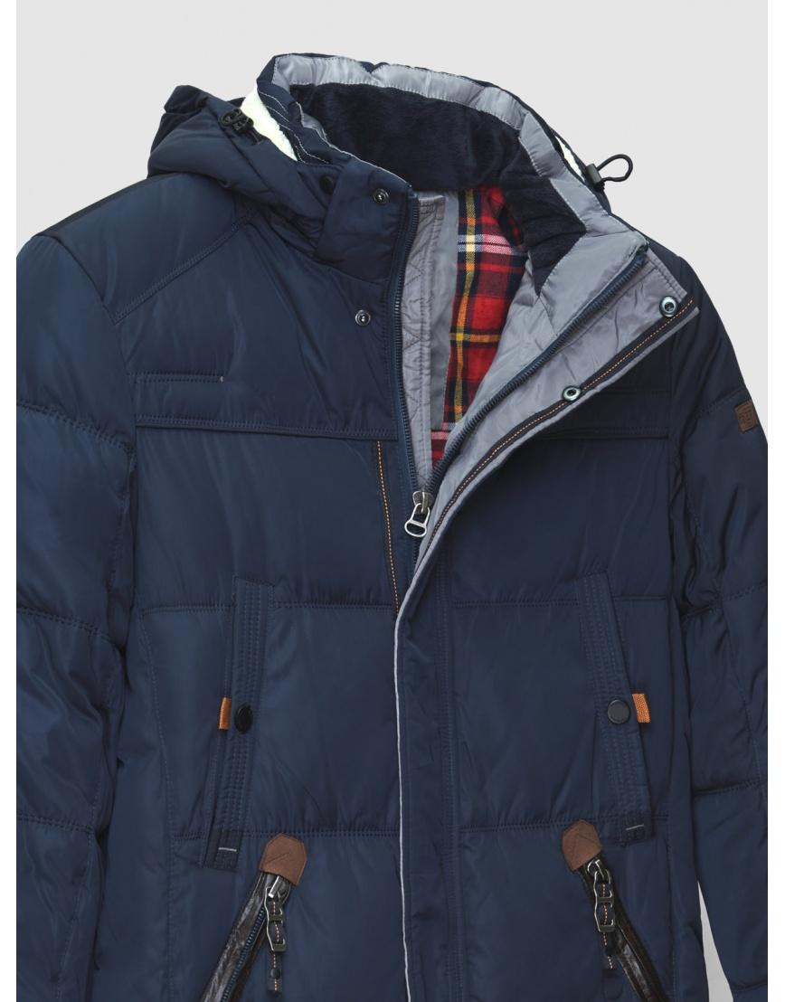 50 (L) – последний размер – длинная куртка ZPJV синяя мужская зимняя 200023 фото 3
