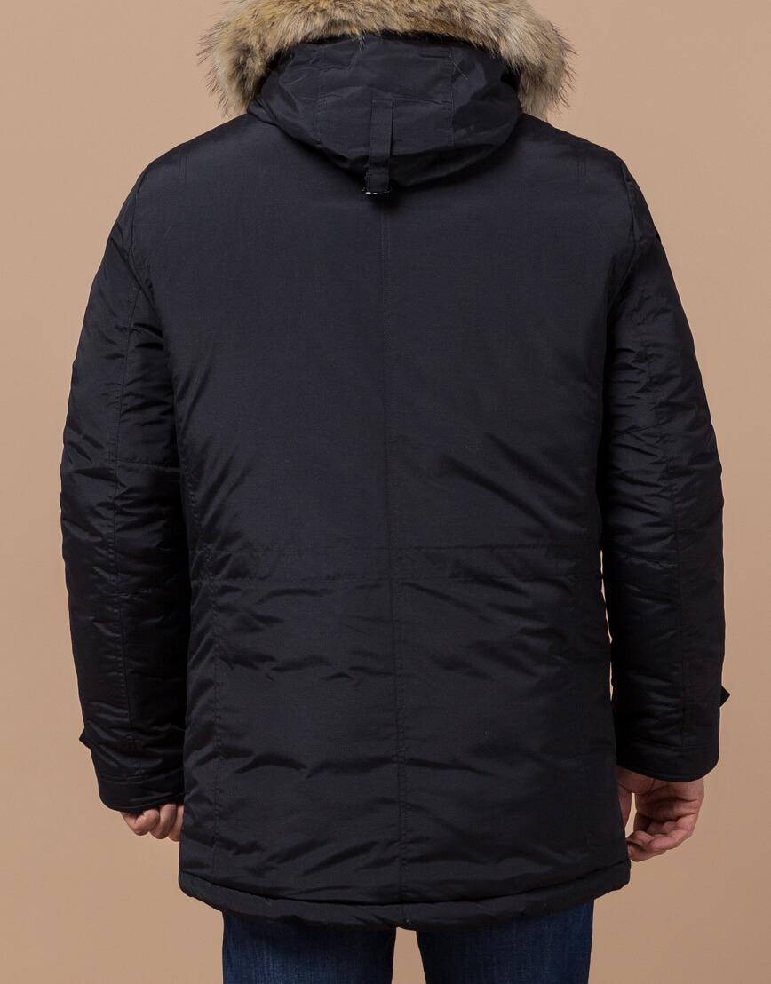 Парка с карманами зимняя черная модель 37560 фото 3