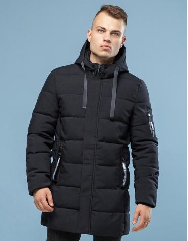 Черная брендовая зимняя куртка модель 6007 оптом