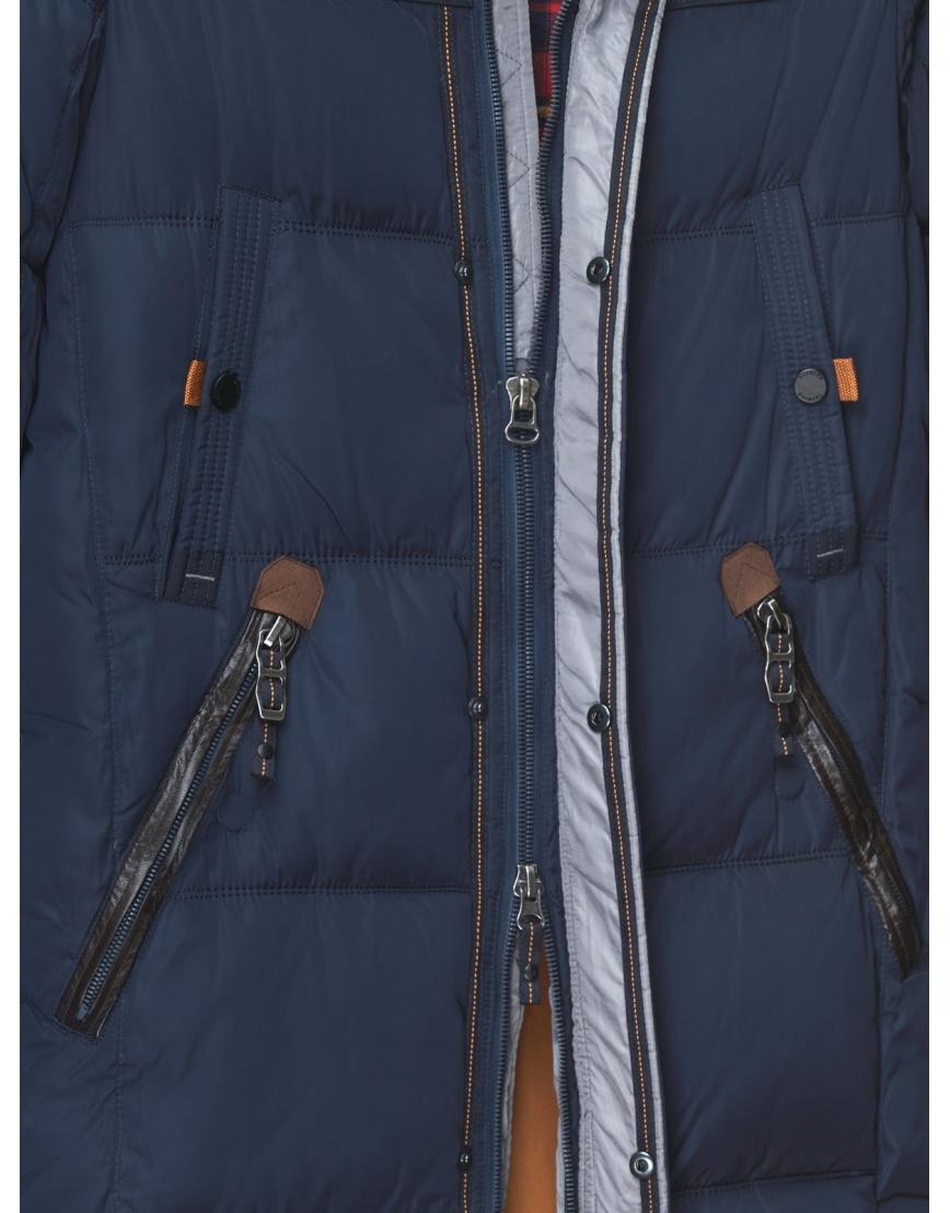 50 (L) – последний размер – длинная куртка ZPJV синяя мужская зимняя 200023 фото 4