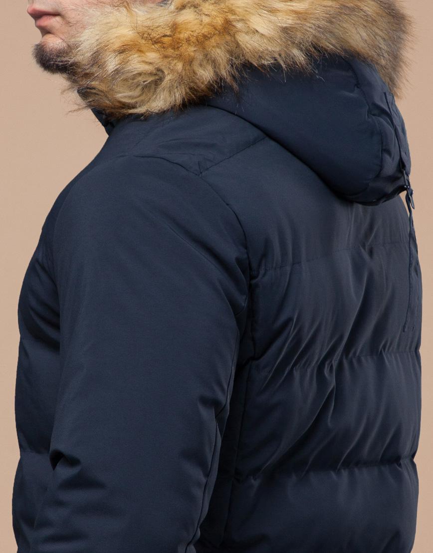 Молодежная синяя куртка с капюшоном модель 25780 фото 7