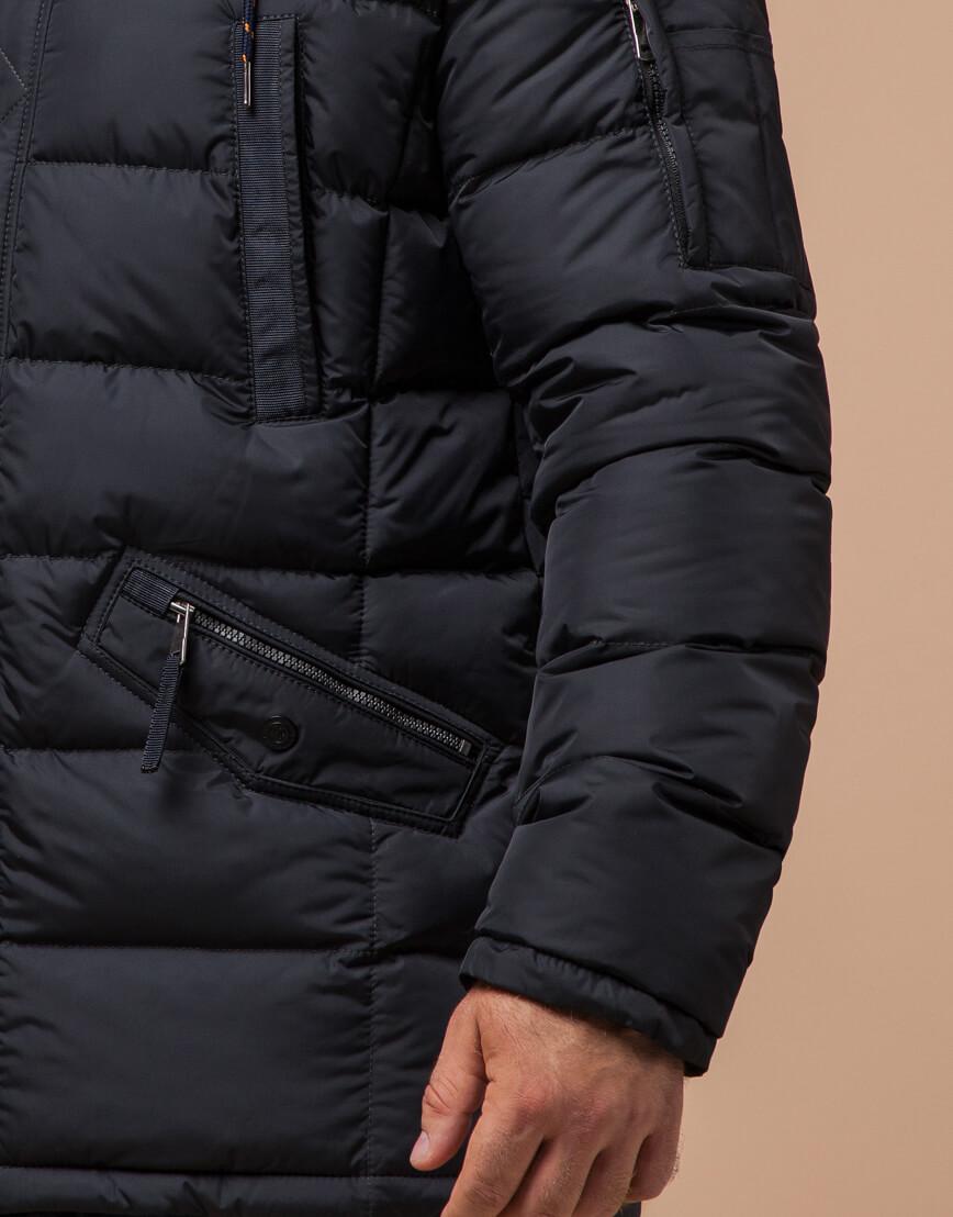 Куртка зимняя мужская графитового цвета модель 26402 оптом фото 5