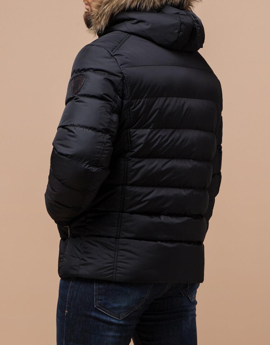 Черная куртка качественного пошива модель 12149 фото 3