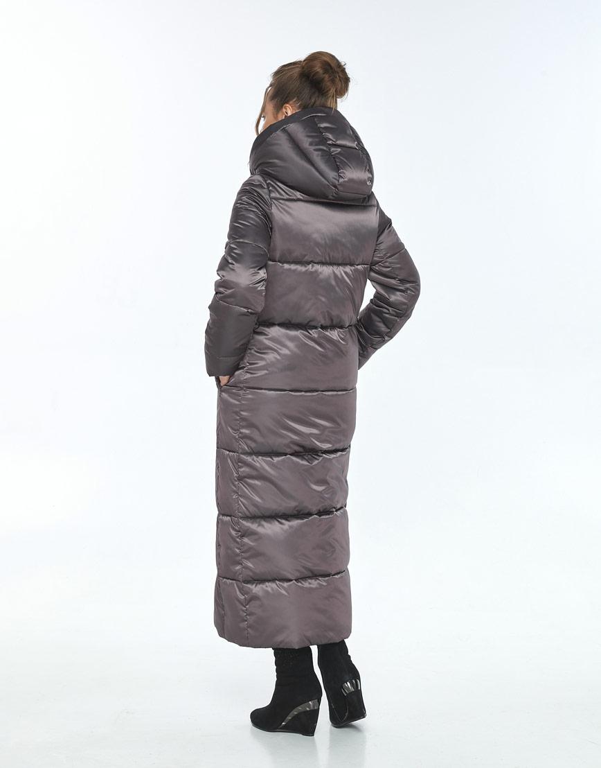 Зимняя модная куртка Ajento капучиновая женская 21972 фото 3