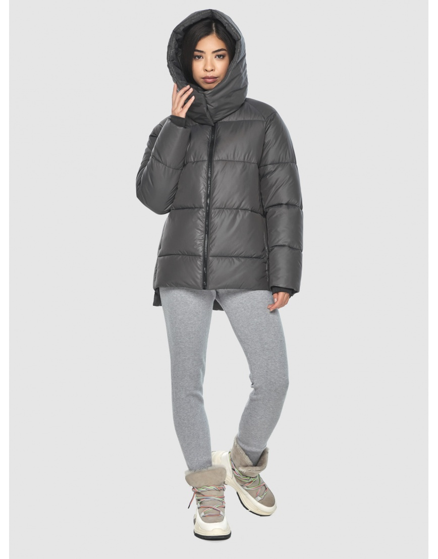 Удобная серая куртка Moc зимняя для подростков M6212  фото 5