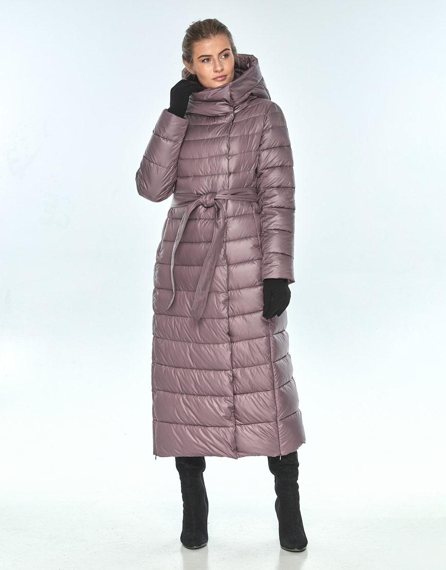Пудровая куртка Ajento женская на змейке зимняя 23320 фото 2