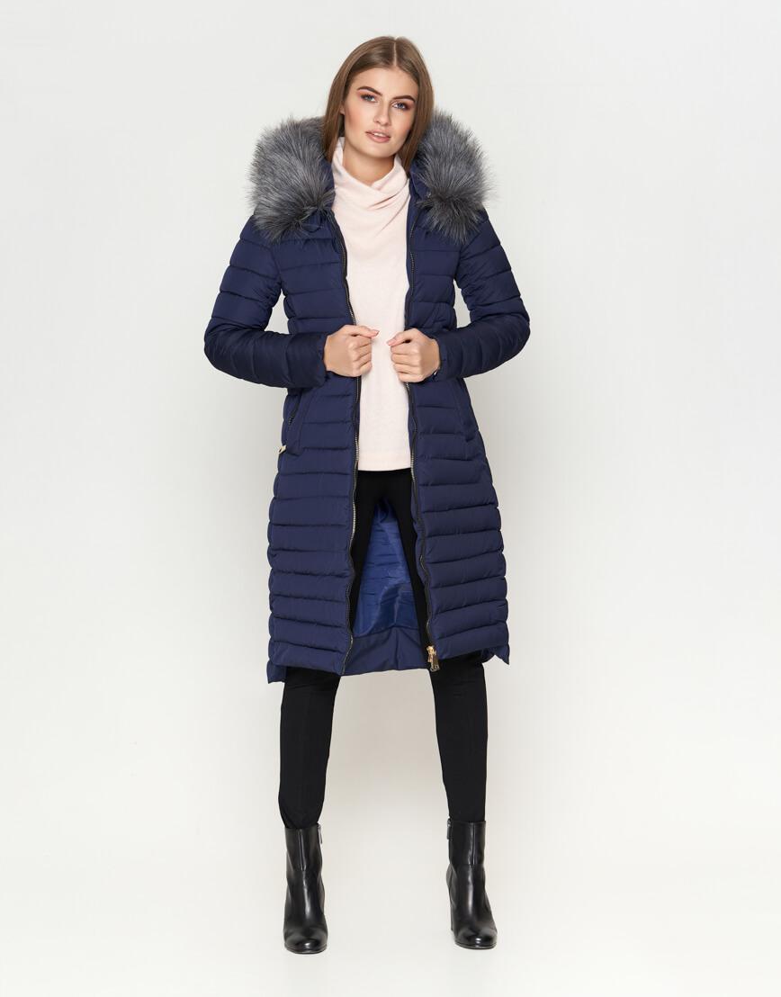 Женская темно-синяя куртка оригинальная модель 6615