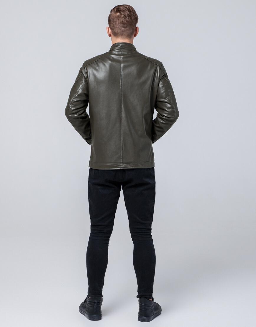 Стильная молодежная куртка цвет хаки модель 4129 фото 4