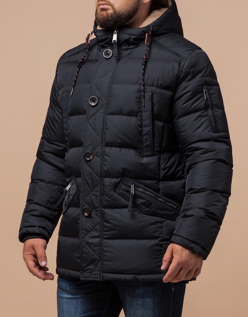Куртка зимняя мужская графитового цвета модель 26402 оптом фото 2