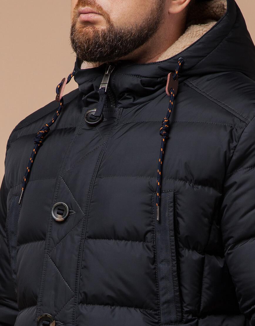 Куртка зимняя мужская графитового цвета модель 26402 оптом фото 4
