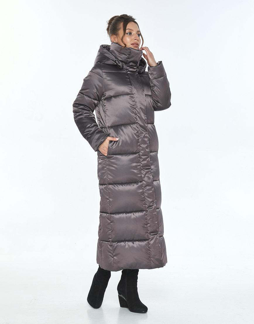 Зимняя модная куртка Ajento капучиновая женская 21972 фото 2