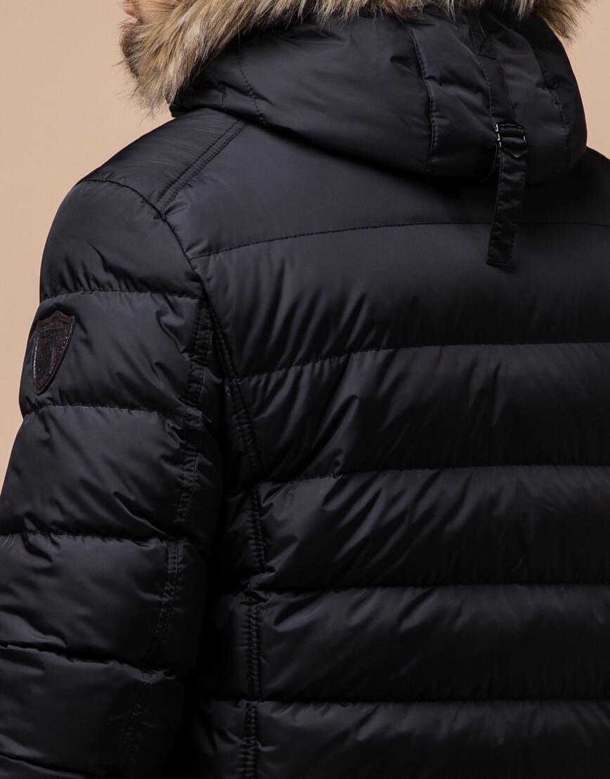 Черная куртка качественного пошива модель 12149 фото 6