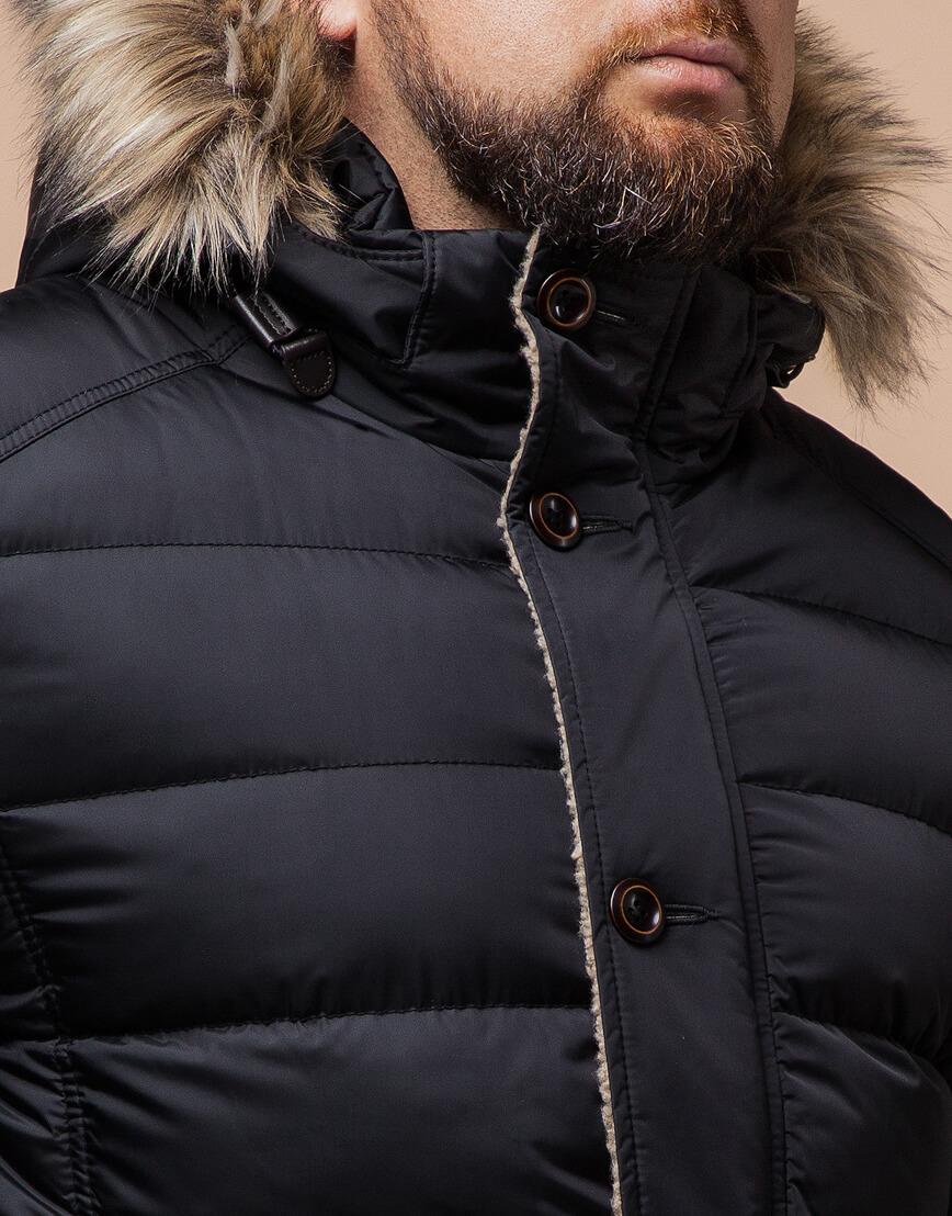 Черная куртка качественного пошива модель 12149 фото 4