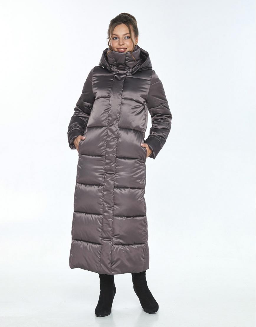 Зимняя модная куртка Ajento капучиновая женская 21972 фото 1
