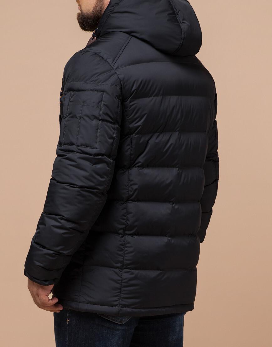 Куртка зимняя мужская графитового цвета модель 26402 оптом фото 3