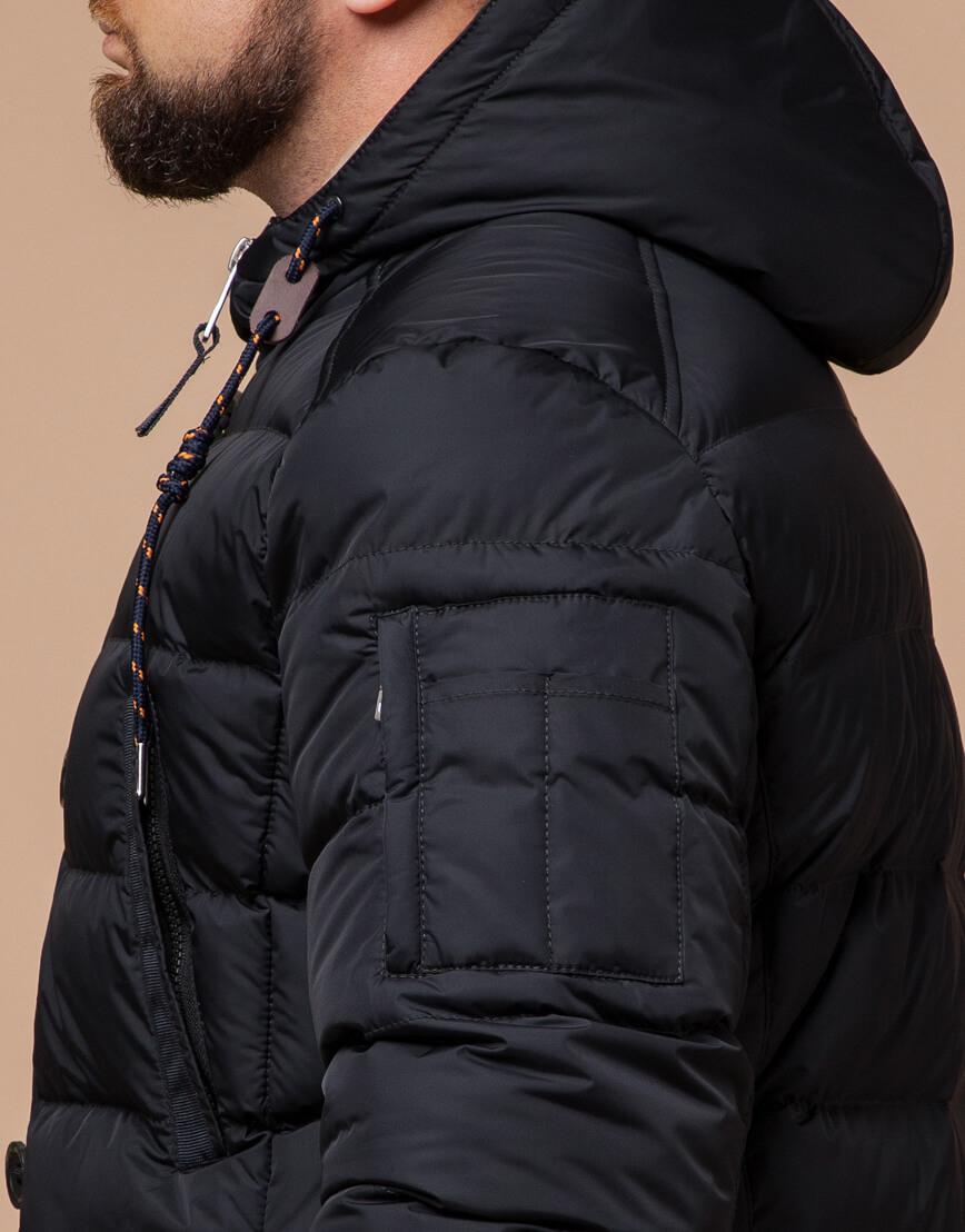 Куртка зимняя мужская графитового цвета модель 26402 оптом фото 6