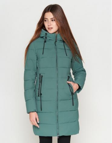 Женская молодежная высококачественная зеленая куртка модель 25285-1