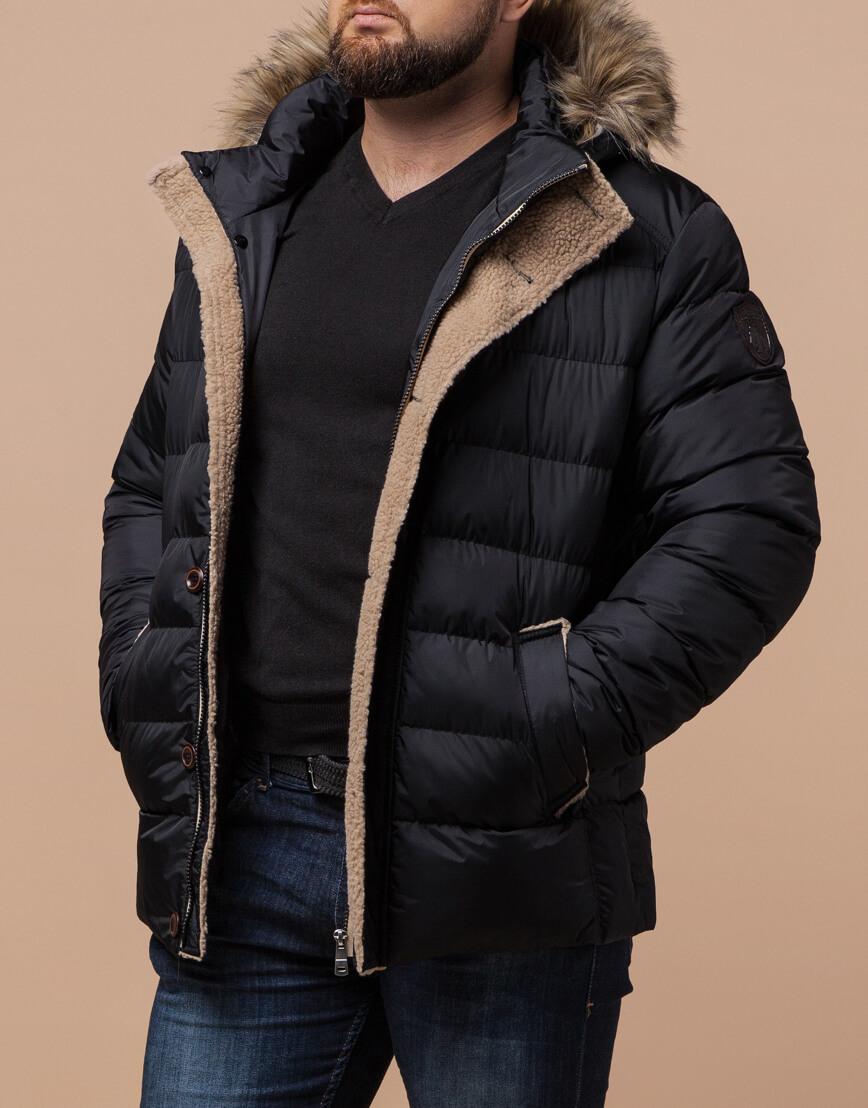 Черная куртка качественного пошива модель 12149 фото 1