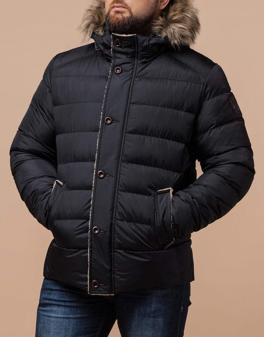 Черная куртка качественного пошива модель 12149 фото 2