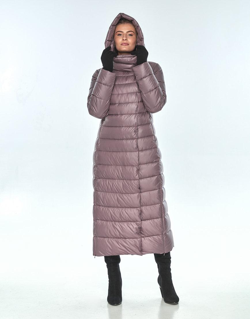 Пудровая куртка Ajento женская на змейке зимняя 23320 фото 1