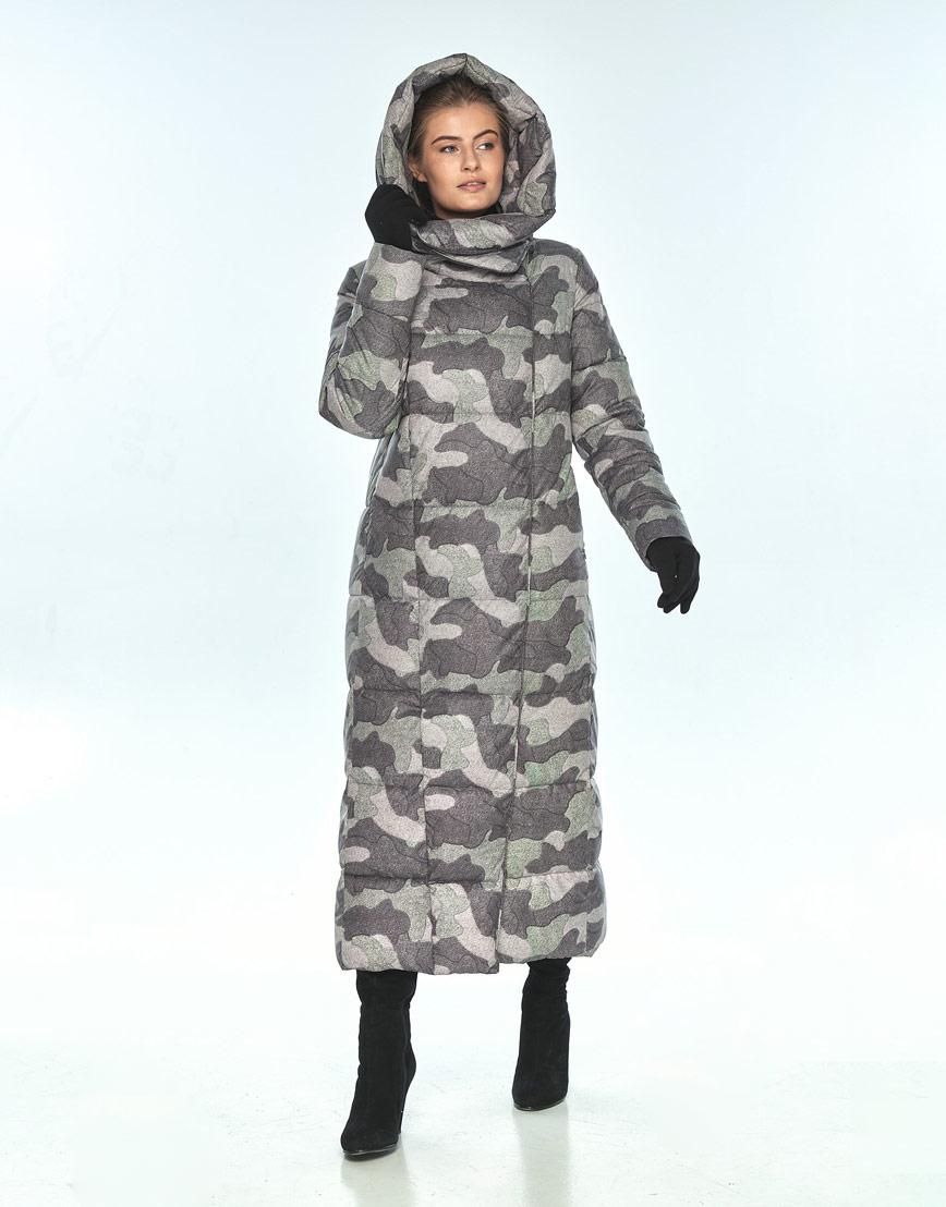 Практичная куртка с рисунком женская Ajento зимняя 22356 фото 1