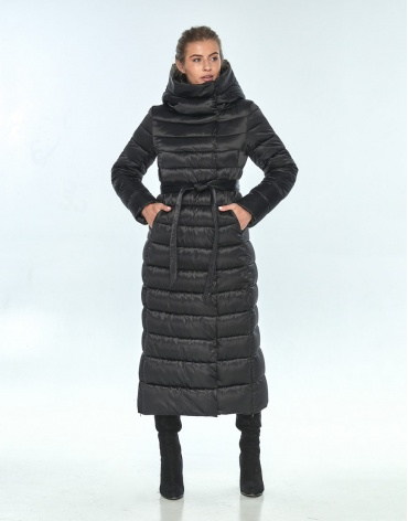 Комфортная зимняя чёрная куртка женская Ajento 23320 фото 1