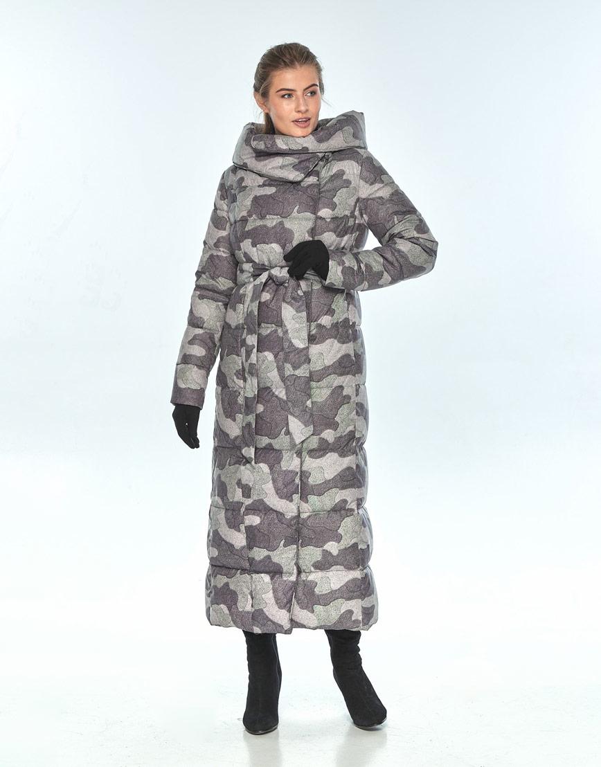 Практичная куртка с рисунком женская Ajento зимняя 22356 фото 2