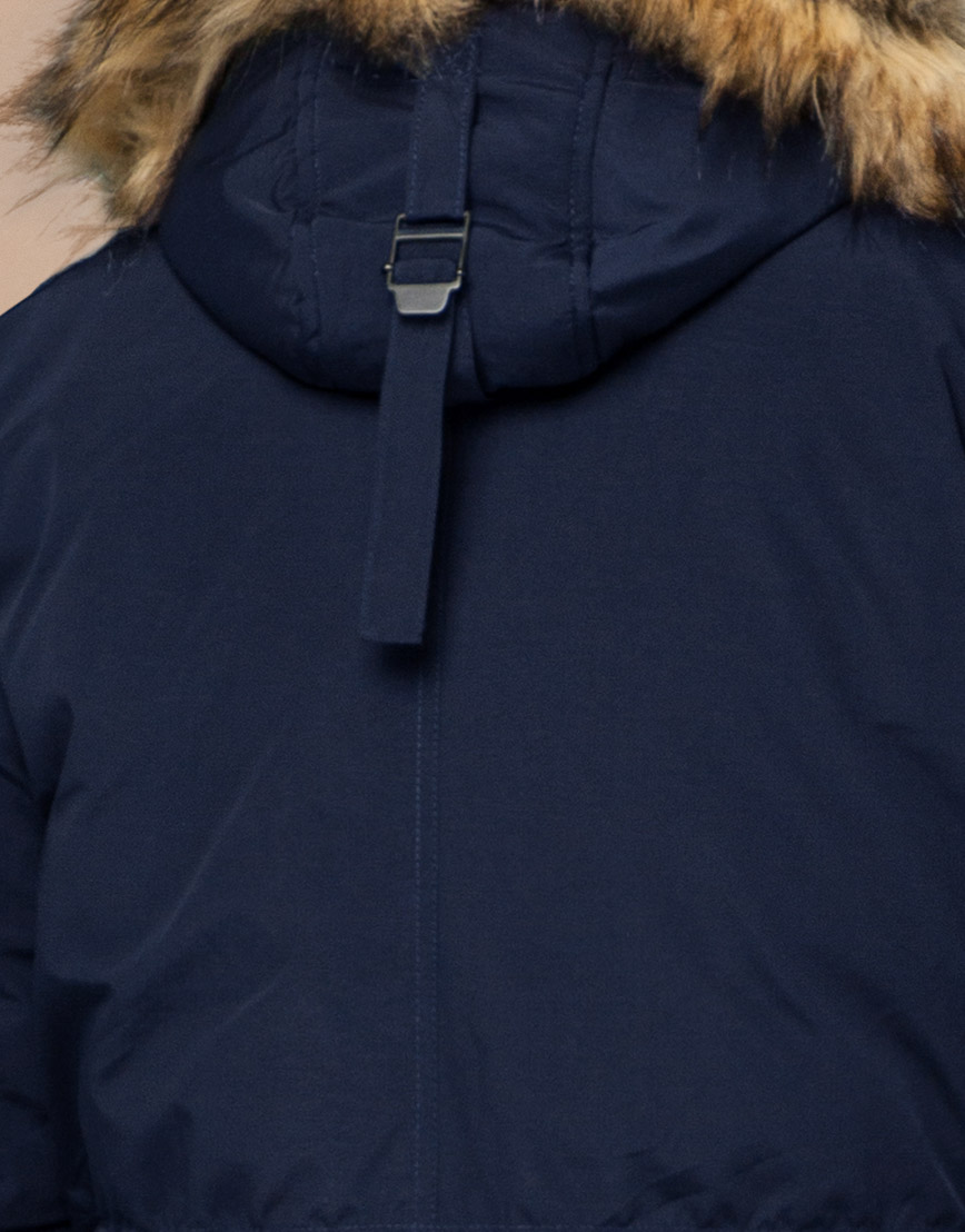 Парка синяя зимняя брендовая модель 25770 фото 7