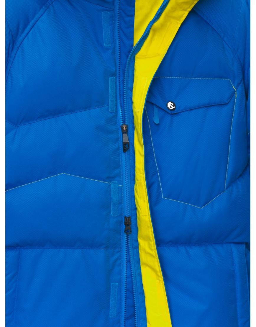 50 (L) – последний размер – горнолыжная куртка мужская зимняя Salomon синяя 200025 фото 4