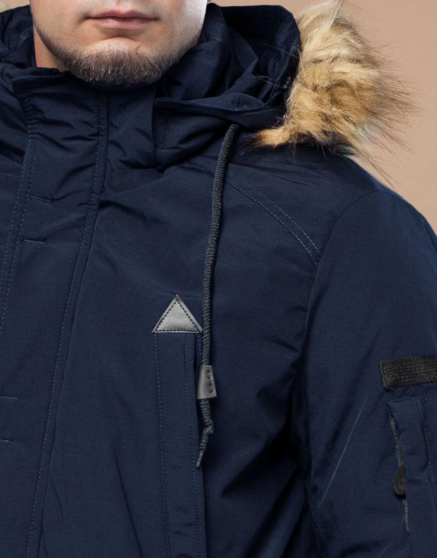 Парка синяя зимняя брендовая модель 25770 фото 5