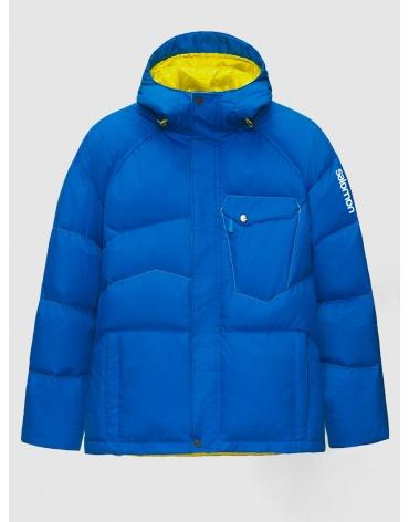50 (L) – последний размер – горнолыжная куртка мужская зимняя Salomon синяя 200025 фото 1