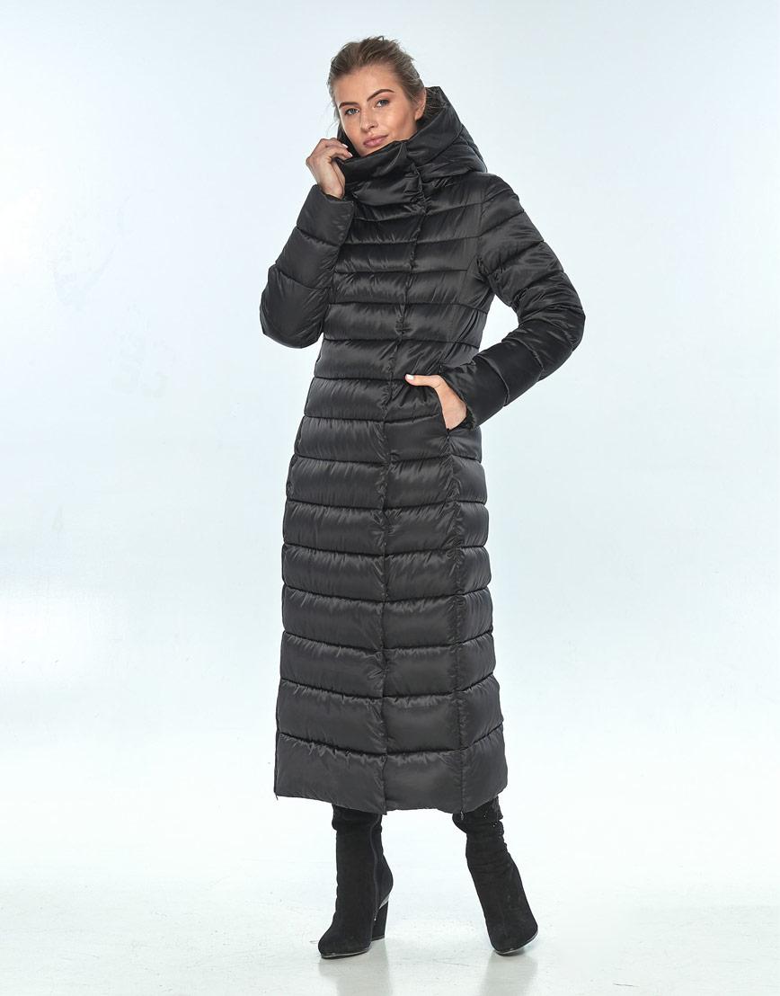 Комфортная зимняя чёрная куртка женская Ajento 23320 фото 2