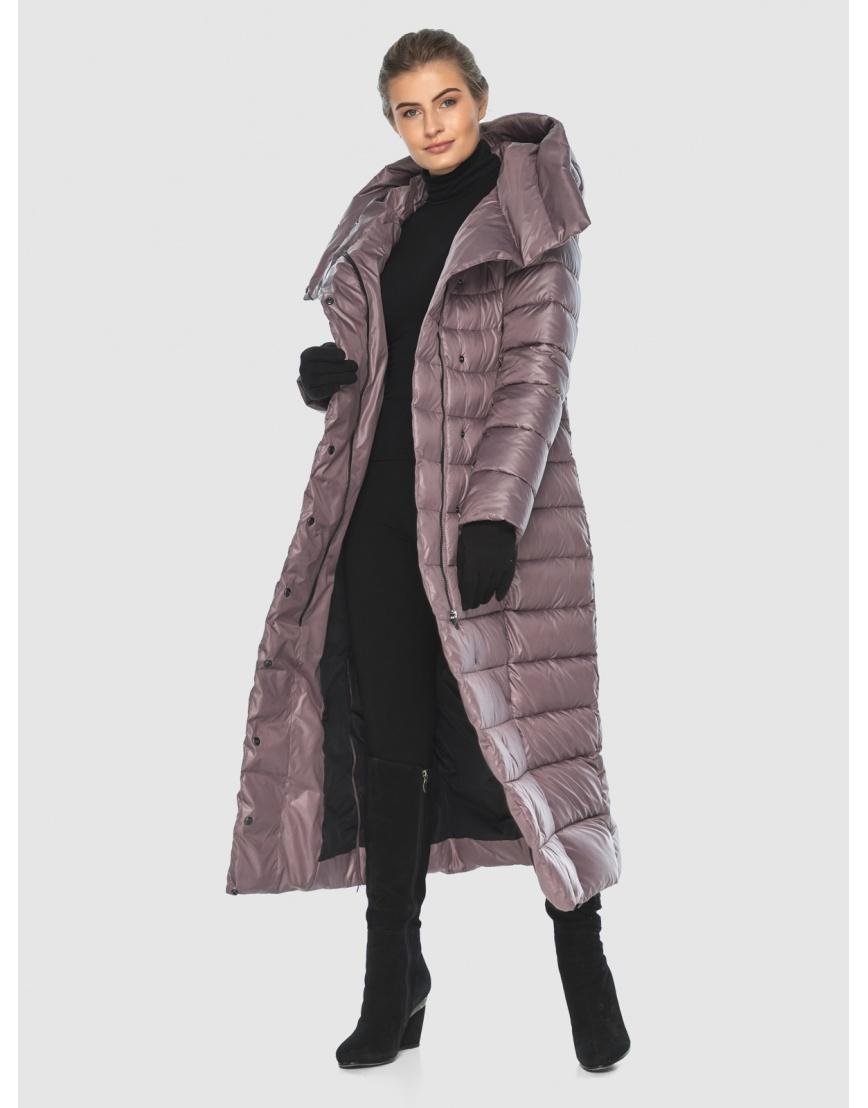 Женская длинная пудровая куртка Ajento 23320 фото 6