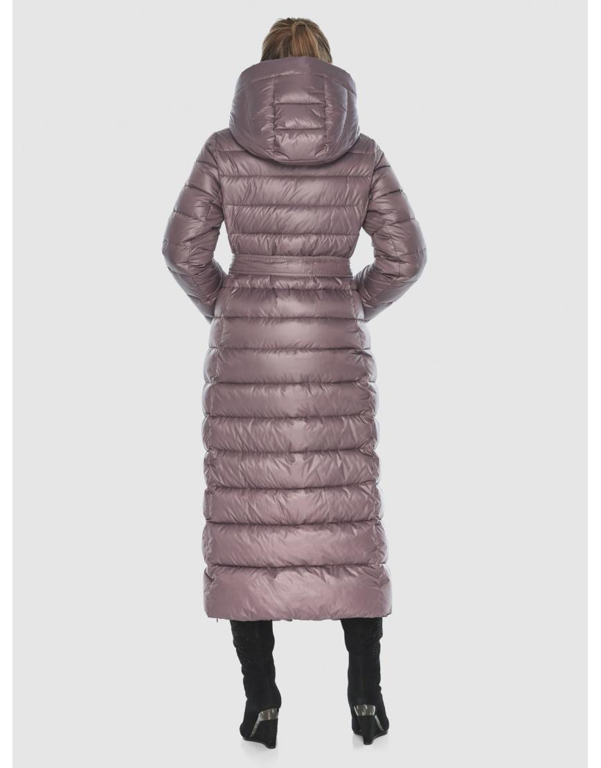 Женская длинная пудровая куртка Ajento 23320 фото 4