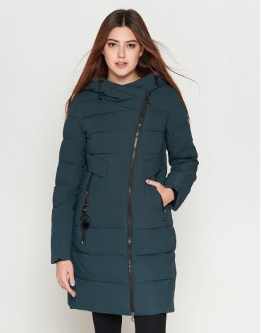 Бирюзовая куртка женская удобная модель 25035