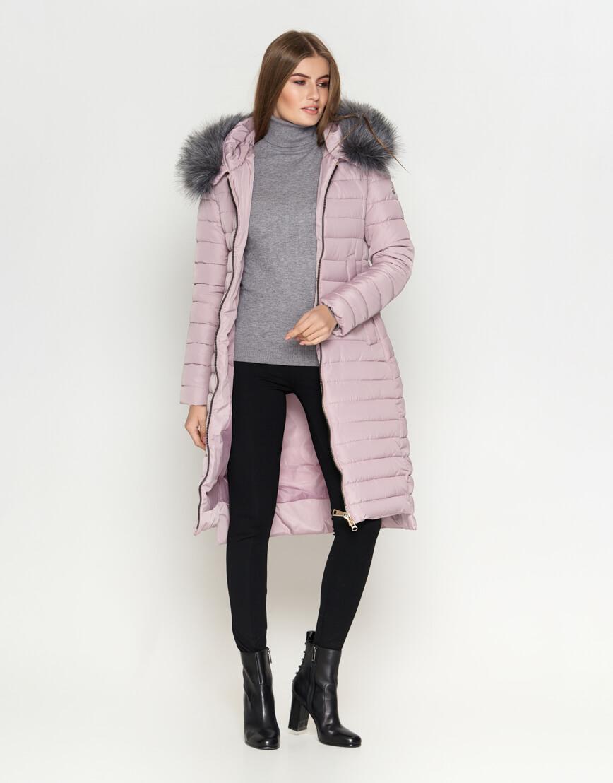 Женская куртка цвета пудры модель 6615