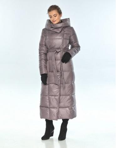 Женская пудровая зимняя куртка Ajento стильная 22356 фото 1