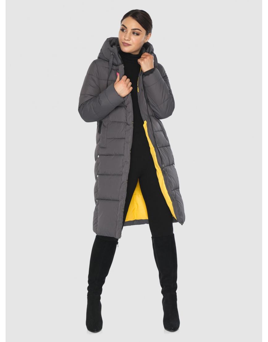 Серая люксовая куртка Wild Club женская 541-94 фото 2