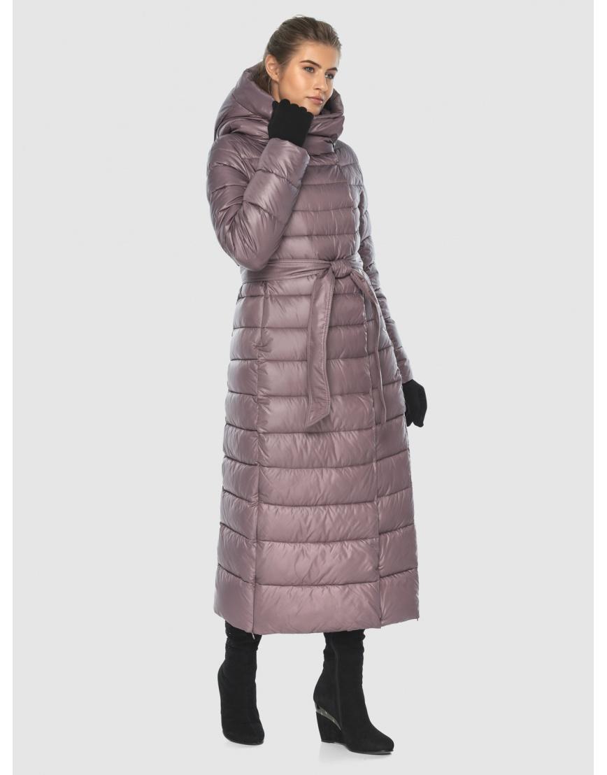 Женская длинная пудровая куртка Ajento 23320 фото 5
