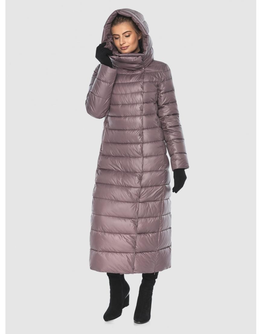 Женская длинная пудровая куртка Ajento 23320 фото 3