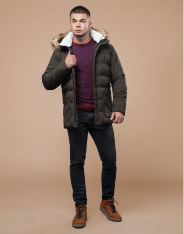 Куртка высококачественная подростковая цвета кофе модель 25780 оптом