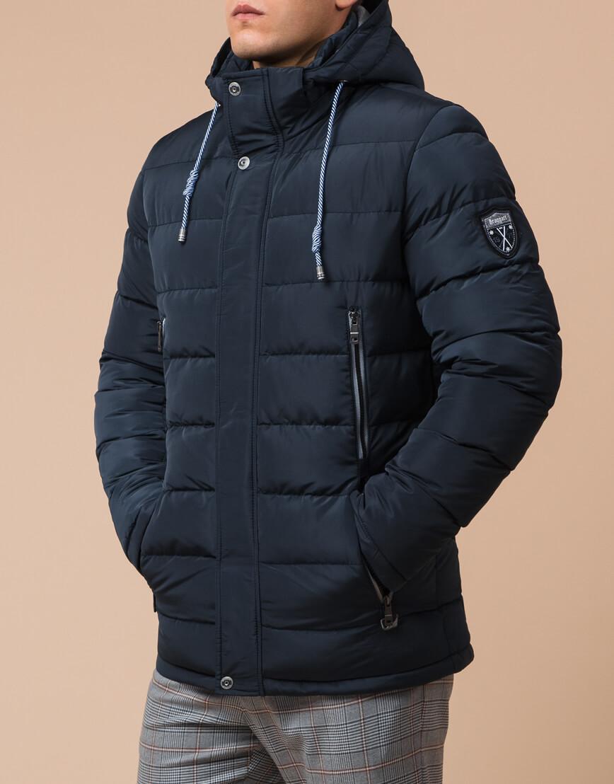 Трендовая куртка синего цвета мужская модель 38828