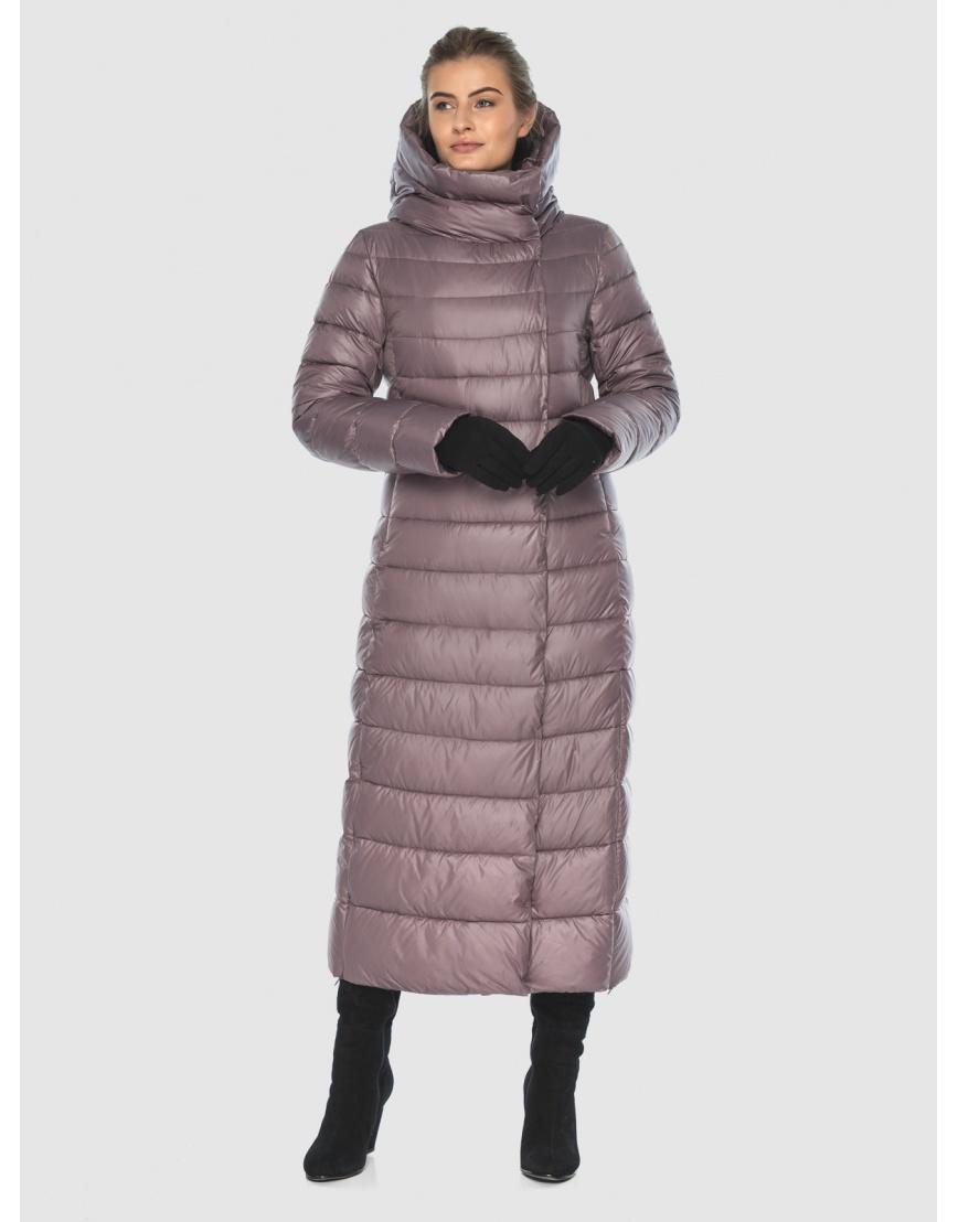 Женская длинная пудровая куртка Ajento 23320 фото 2