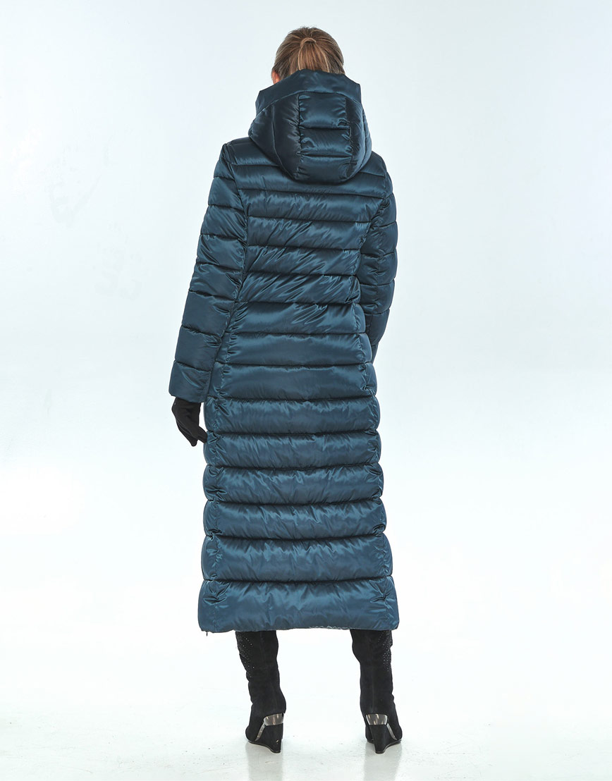 Фирменная куртка зелёная Ajento женская зимняя 23320 фото 3