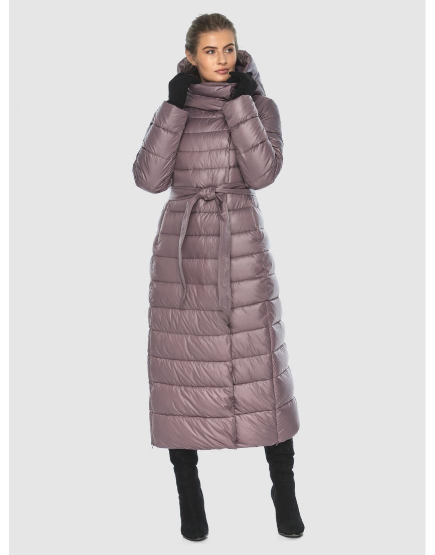 Женская длинная пудровая куртка Ajento 23320 фото 1