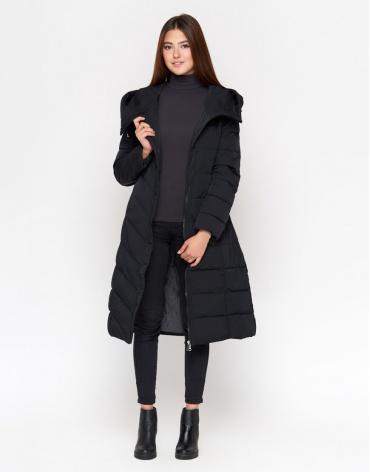 Зимняя черная куртка комфортная женская модель DR23