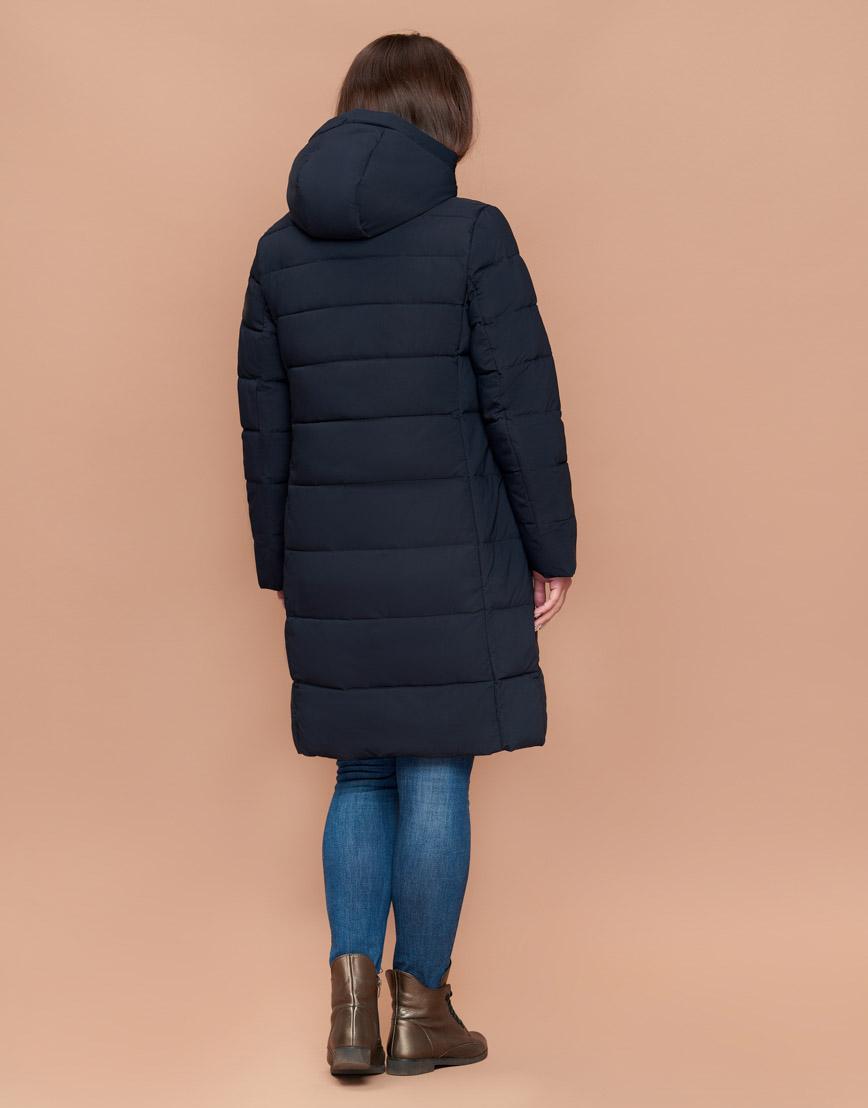 Куртка приталенная женская практичная темно-синяя модель 25015 фото 4