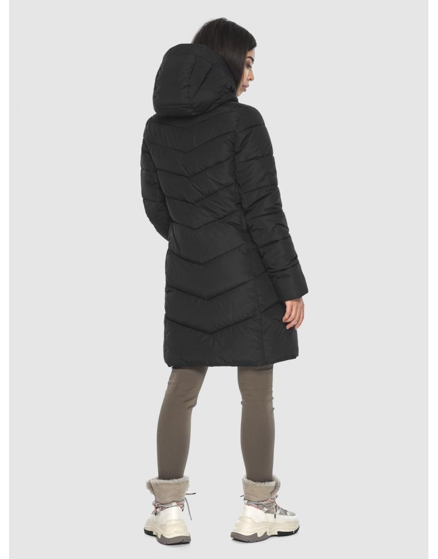 Куртка подростковая люксовая чёрная Moc зимняя M6540 фото 4
